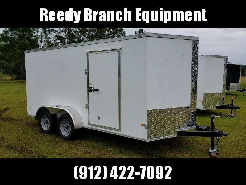 2018 ROCK SOLID CARGO (WHITE) 7x14TA Enclosed Cargo Trailer