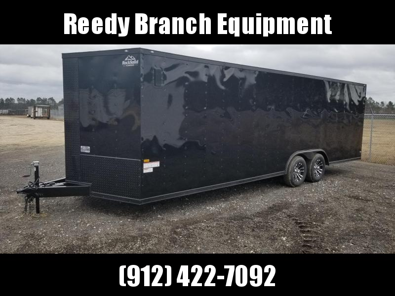 2018 ROCK SOLID CARGO(8.5X24(FACTORY PICKUP) BLACKOUT EDITION) 5200#TANDEM AXLE Enclosed Cargo Trailer