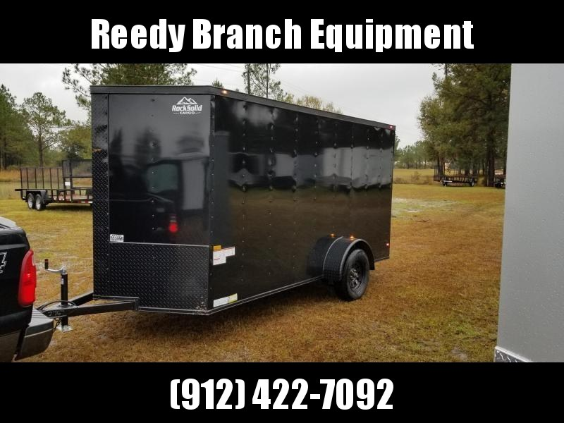 2018 ROCK SOLID CARGO(BLACK-OUT) 6X12SA-3500LB Enclosed Cargo Trailer