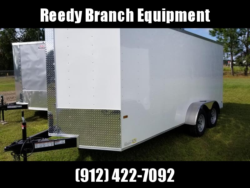2018 ROCK SOLID CARGO  7X16TA2 (WHITE)(6.3FT)Enclosed Cargo Trailer