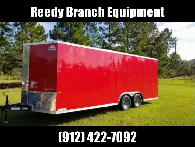 2018 ROCK SOLID CARGO(.030 RED) 8.5x20 CH-5200lb Enclosed Cargo Trailer