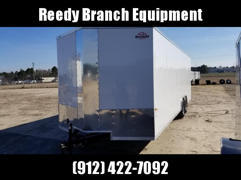 2019 ROCK SOLID CARGO(CARHAULER)6.6'HEIGHT) (WHITE OR BLACK) 8.5x24 CH-5200lb Enclosed Cargo Trailer
