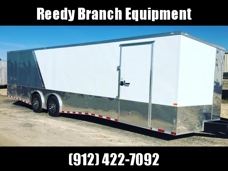 New 8.5x28-Spread Axle Enclosed Car Hauler