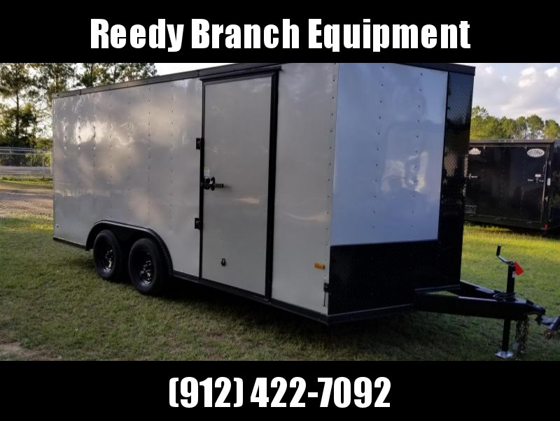 2018 ROCK SOLID CARGO TRAILER(3500AXLES)(BLACK-OUT) (SILVER FROST) 8.5x16  Enclosed CARGO TRAILER