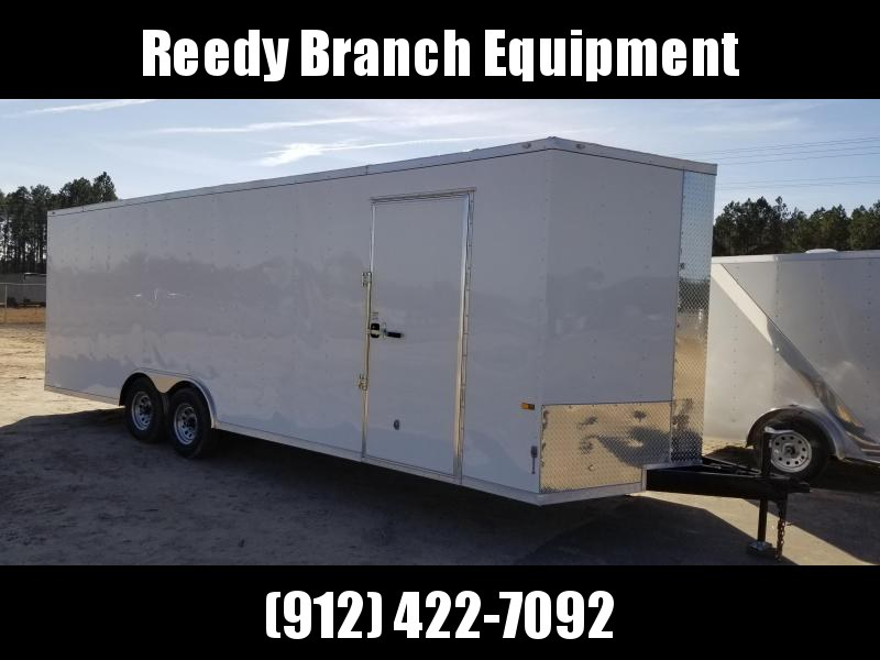 2018 ROCK SOLID CARGO(CARHAULER)(EXTRA HEIGHT) (WHITE) 8.5x24 CH-5200lb Enclosed Cargo Trailer
