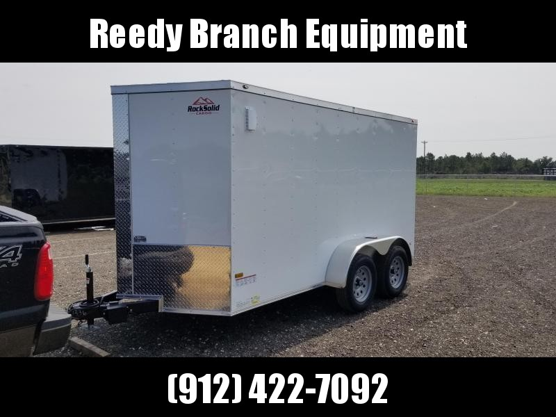 2019 ROCK SOLID CARGO(WHITE) 6X12TA-3500LB Enclosed Cargo Trailer