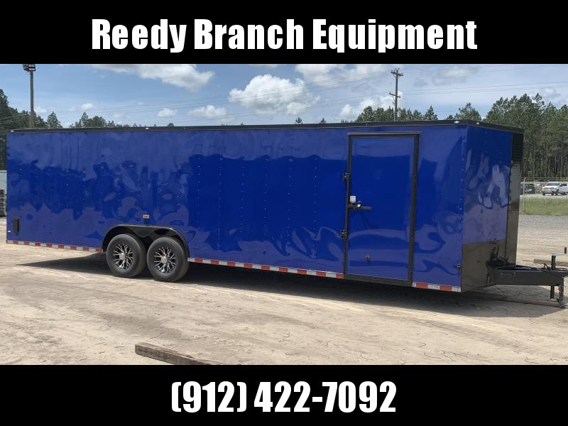 New 8.5x28-Electric Blue Blackout 14K-GVWR Enclosed Cargo Trailer $7350