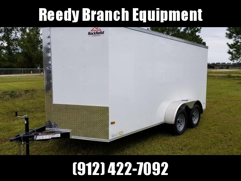2018 ROCK SOLID CARGO (WHITEBLACK)FACTORY DIRECT PICKUP 7x14TA Enclosed Cargo Trailer