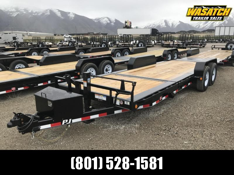 "PJ Trailers 22' HD Tilt 6"" Channel (TJ) Equipment Trailer"