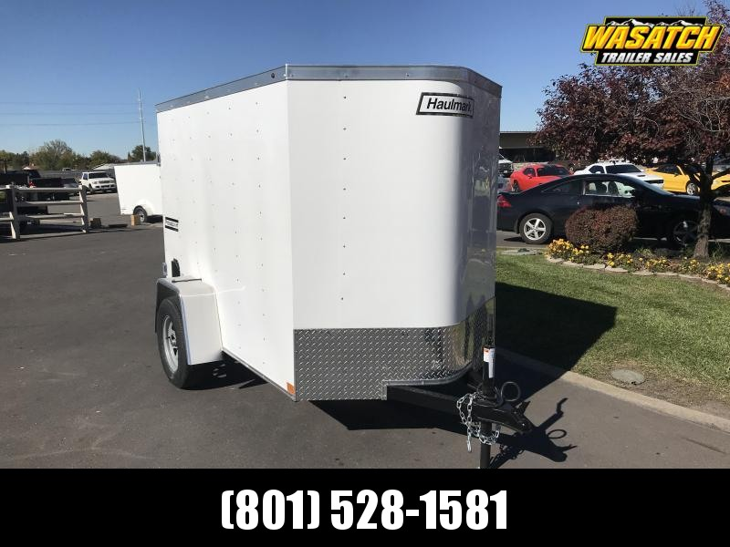 Haulmark 5x8 Enclosed Steel Cargo Trailer w/ V-Nose