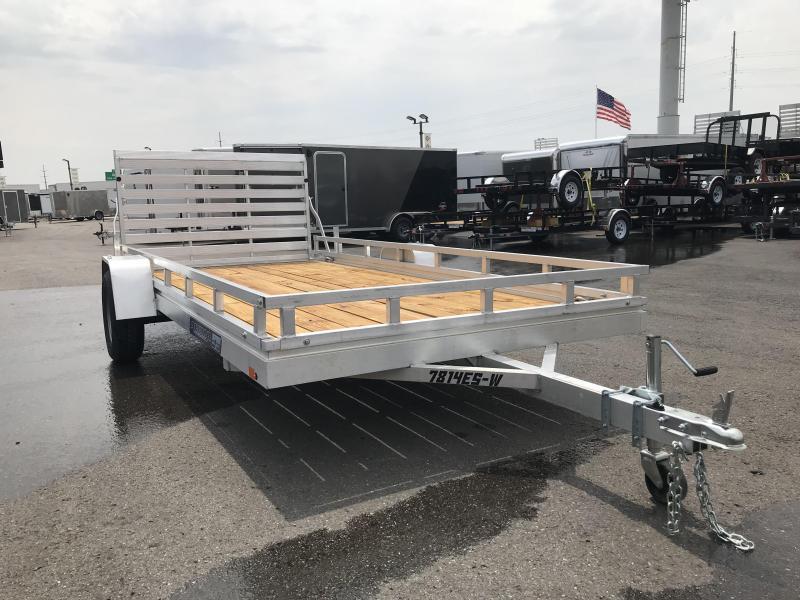 2018 Aluma 78x14 Wood Deck Aluminum Utility Trailer