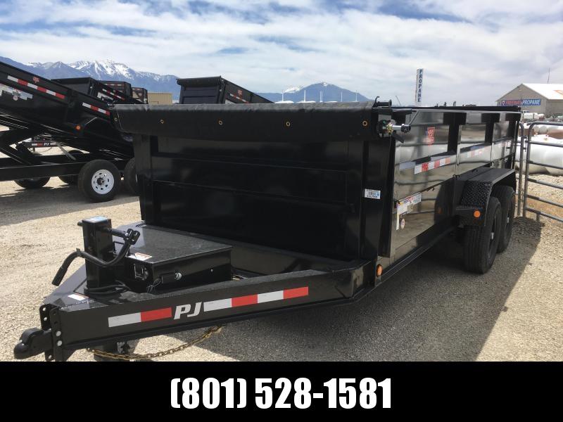 83x16 PJ Low Pro High Side (DM) Hydraulic Dump Trailer