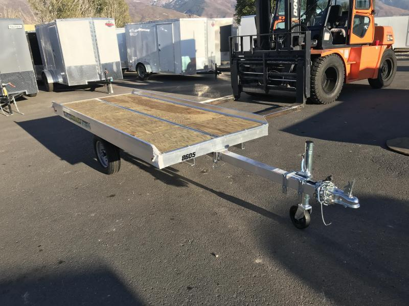 2018 Aluma 8605 Open Snowmobile Trailer
