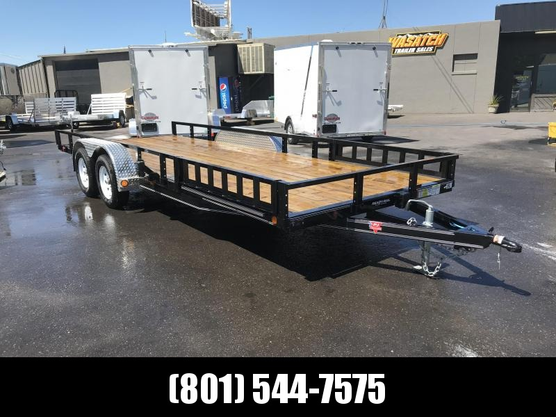 PJ 83x18 Tandem Axle Channel Utility (UL) with Slide-In Ramps