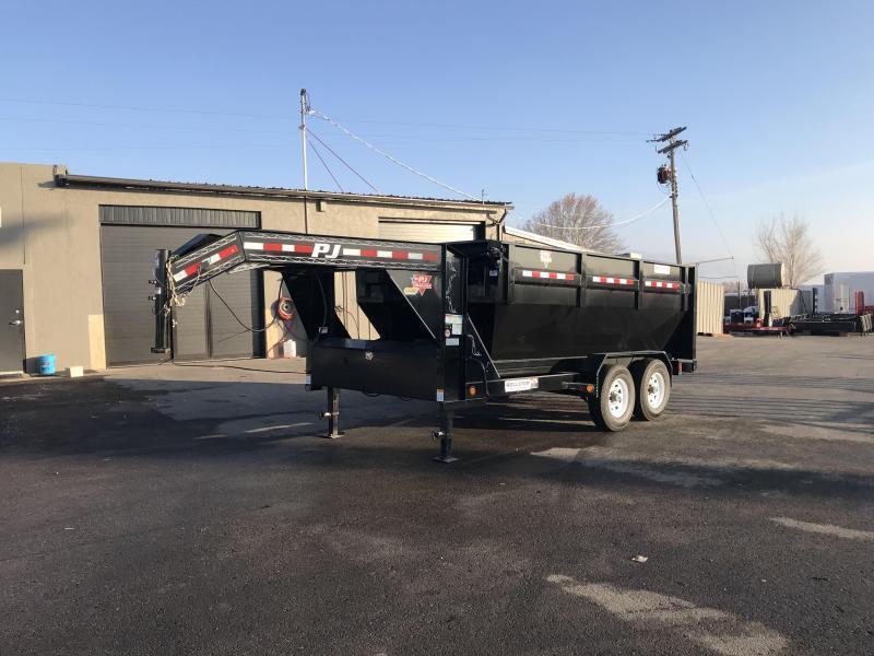 2018 PJ Trailers 14 Gooseneck Rollster Dump Trailer
