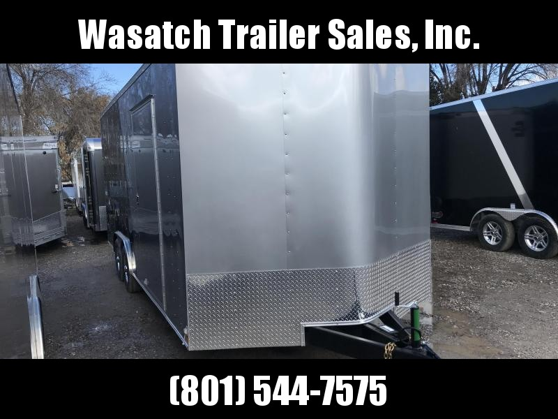 2018 Haulmark 8.5X20 Silver/Charcoal Passport Enclosed Cargo Trailer