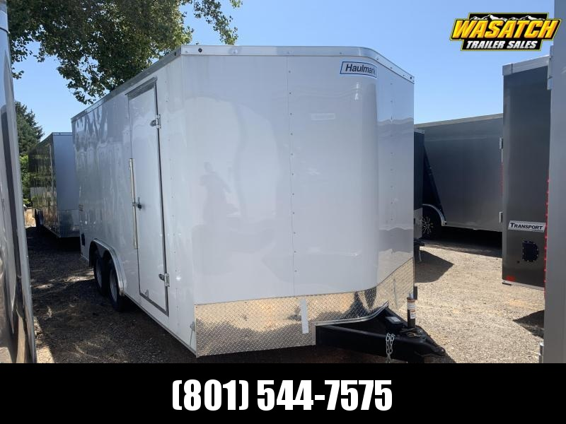 Haulmark 8.5x16 White Passport Deluxe Cargo with Ramp