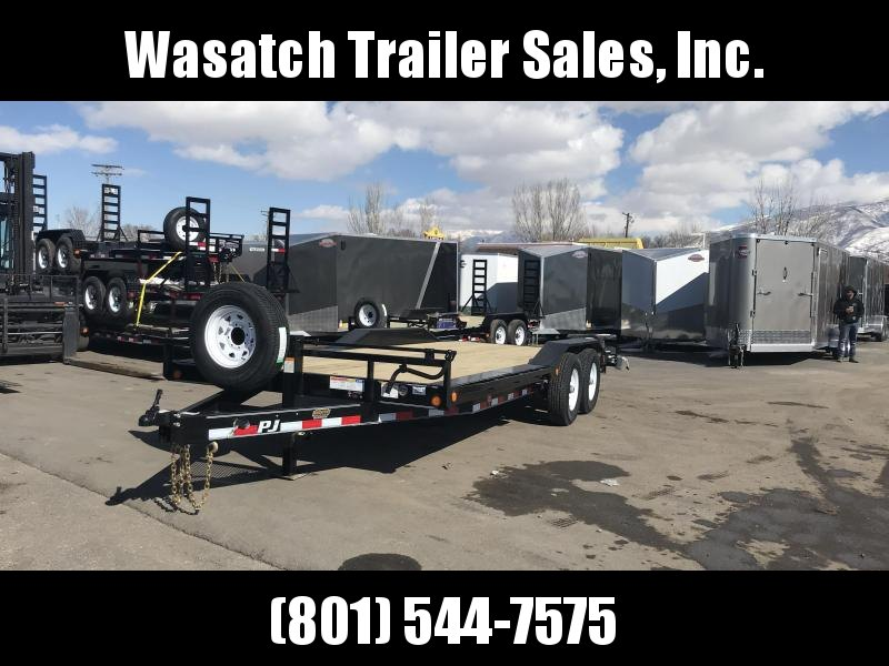 2019 PJ Trailers 20ft - 6 in. Channel Super-Wide (B6) Equipment Trailer