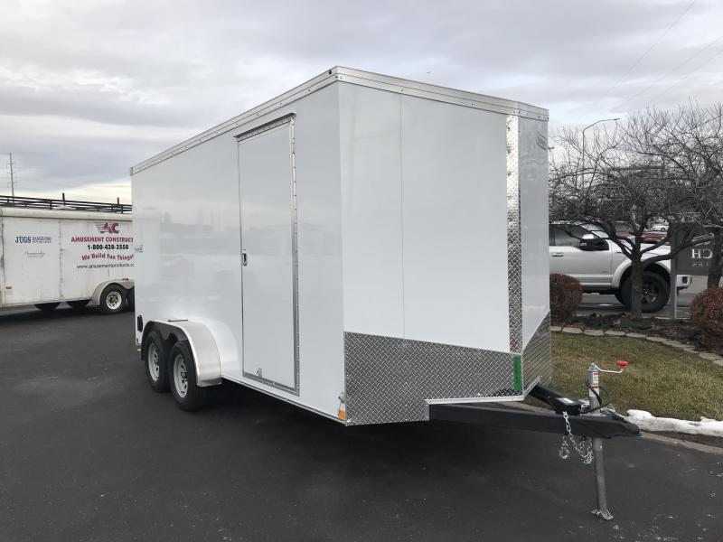 2019 Haulmark White 7x16 Transport Enclosed Cargo Trailer