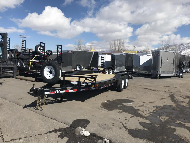 2018 PJ Trailers 20 Super-Wide Equipment Trailer