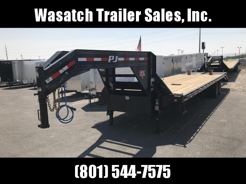 2019 PJ Trailers - 28ft Gooseneck FD - Flatbed Trailer
