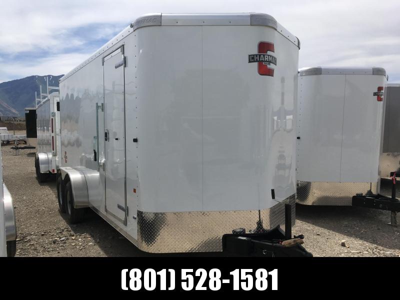 Charmac 7x16 White Standard Duty Cargo w/ Barn Doors
