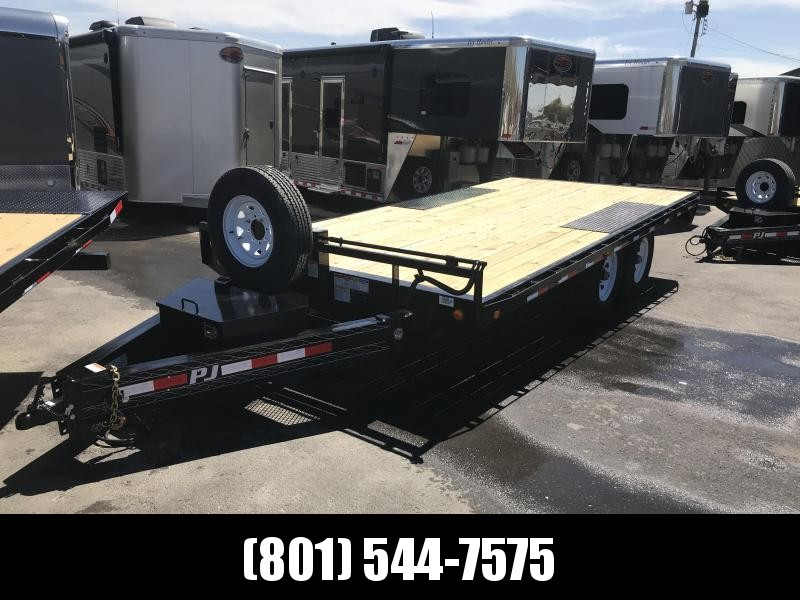 PJ 16ft - 8 in. I-Beam Deckover (F8) Flatbed Trailer