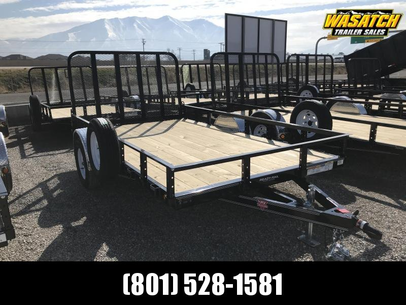 PJ Trailers 83 in. Single Axle Channel (U8) Utility Trailer