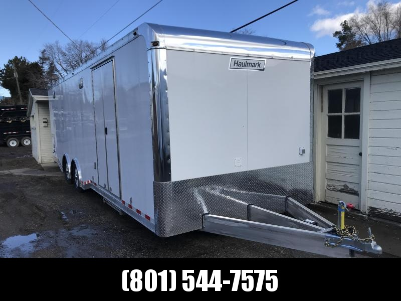 2019 Haulmark 8.5X28 White Aluminum Car / Racing Trailer