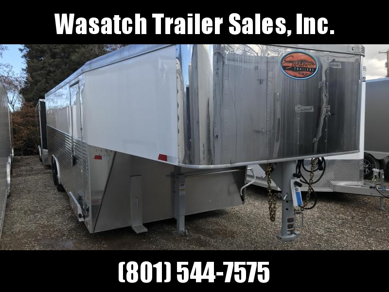 2018 Sundowner Trailers 24 White Gooseneck Enclosed Cargo Trailer