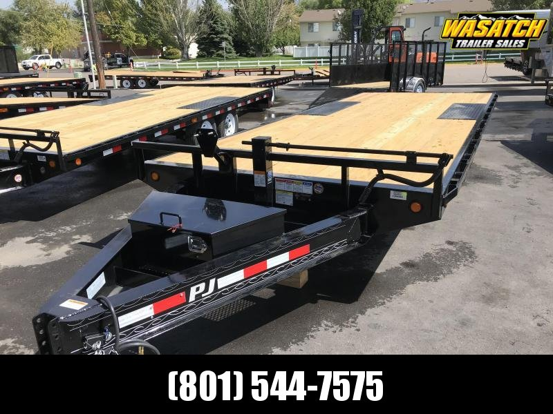 PJ 20ft - 8 in. I-Beam Deckover (F8) Flatbed Trailer
