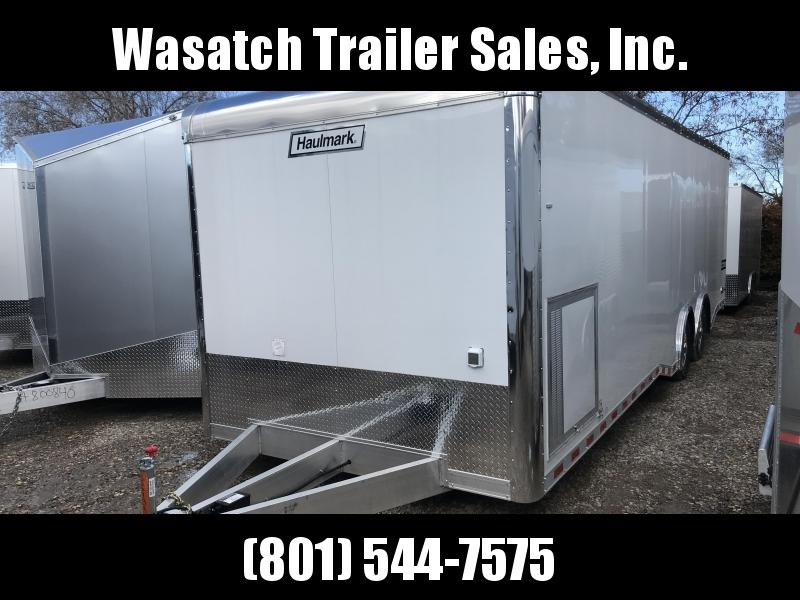 2018 Haulmark 8.5X28 White Aluminum Car / Racing Trailer