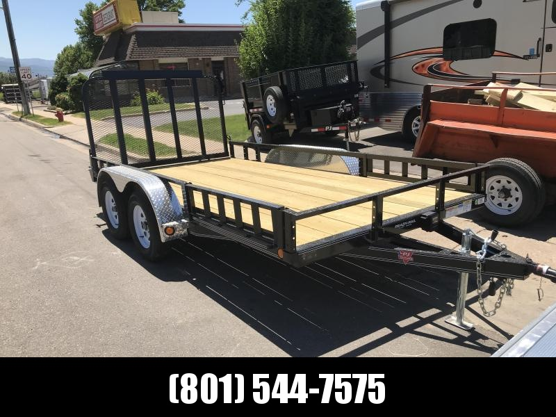 PJ 83x16 Tandem Axle Channel Utility (UL) with Side Ramps