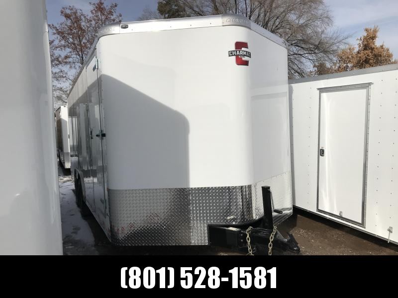 Charmac 100x20 White Commercial Duty Cargo with Barn Doors