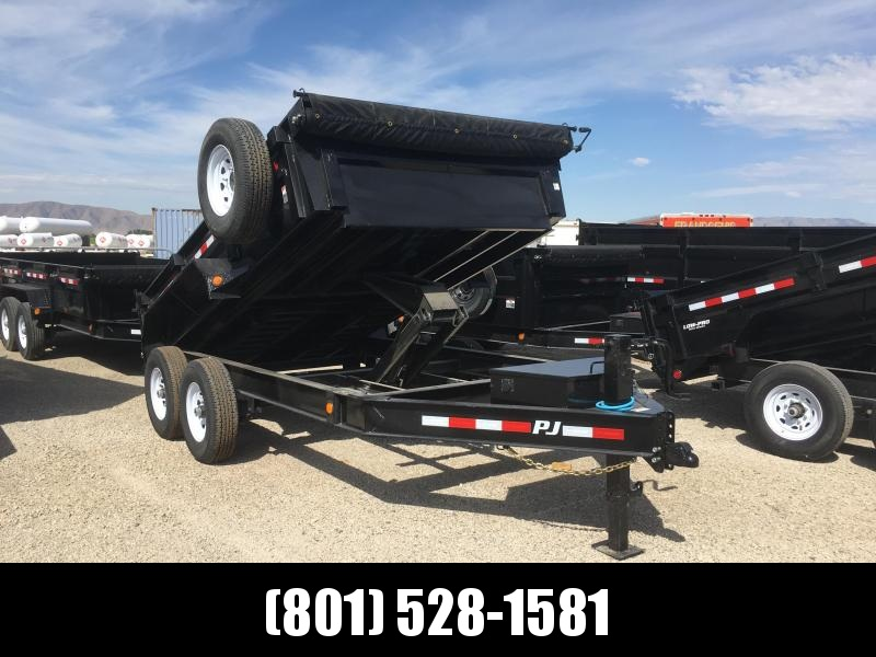PJ Trailers 12ft. - 83 in. Low Pro Dump (DL) Trailer