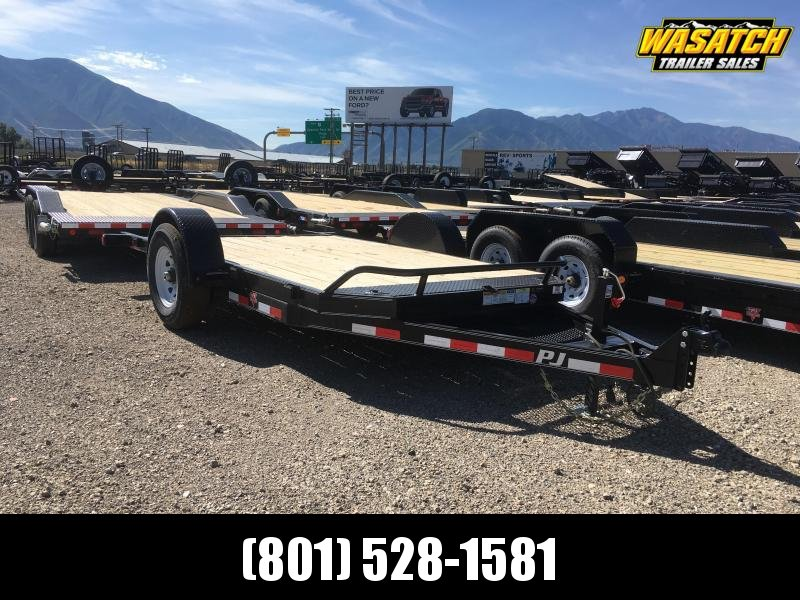 PJ Trailers Single Axle HD Tilt (T1) Equipment Trailer