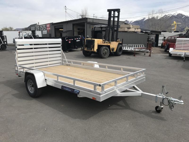 2018 Aluma 78x12 Wood Deck Aluminum Utility Trailer