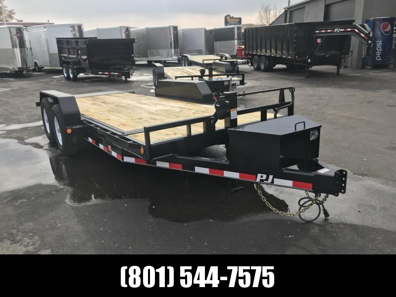 2019 PJ Trailers 18ft - 6 in. Channel Equipment Tilt (T6) Equipment Trailer