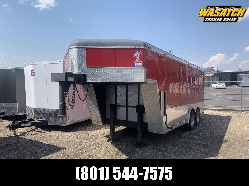 2007 Atlas Specialty Trailers Red 15ft Gooseneck Atlas Specialty Enclosed Cargo Trailer