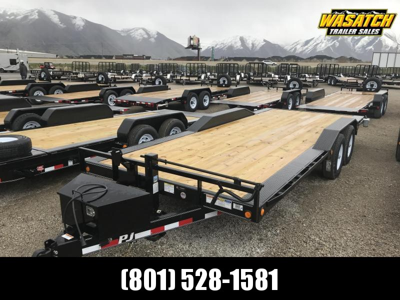 "Pj Trailer 6"" Channel Super-Wide (B6) Flatbed Trailer"