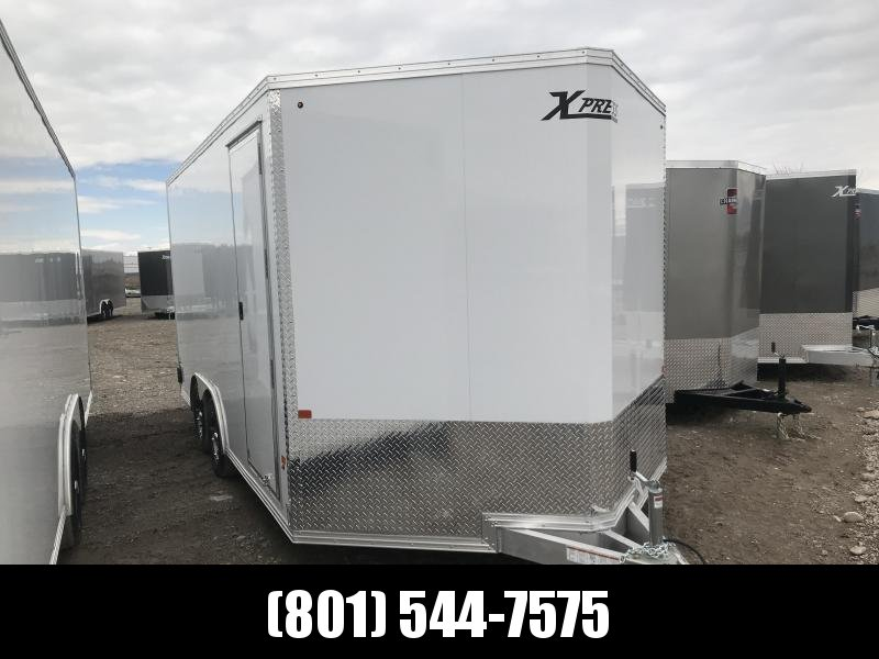 High Country 8x16 White Xpress Car Hauler with Ramp