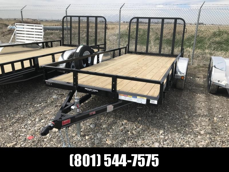 PJ 77 x 14 Single Axle Channel Utility Trailer (U7)