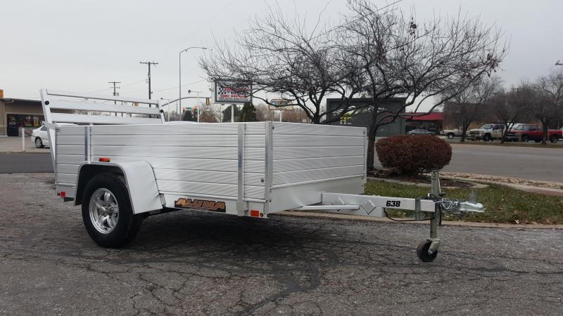 2019 Aluma 638 2ft Solid Sides Utility Trailer