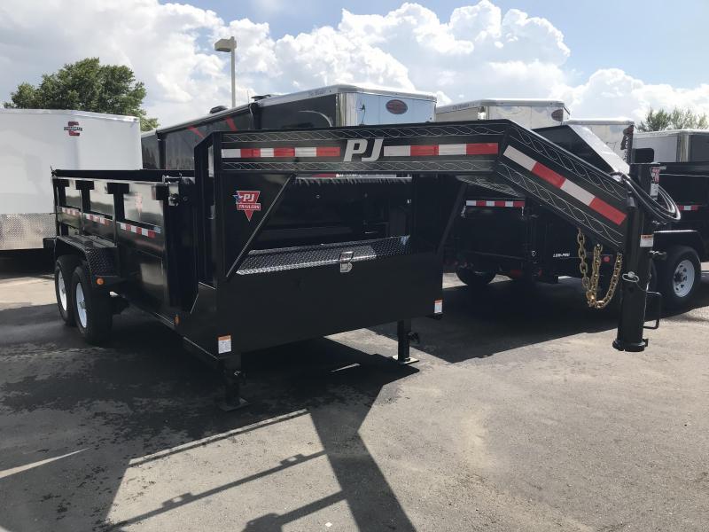 2019 PJ Trailers 83x14 DMR Gooseneck Dump Trailer