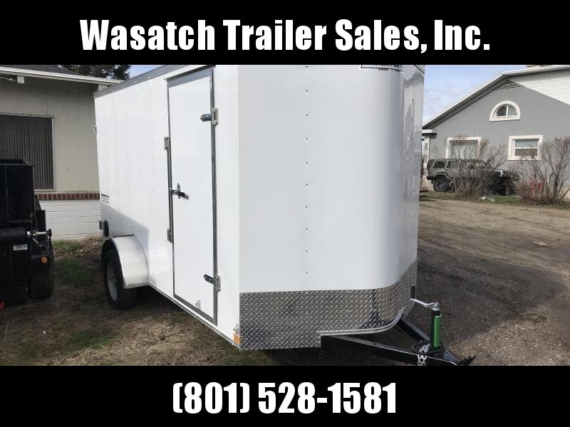 Haulmark White 6x10 Passport with Barn Doors Enclosed Cargo Trailer