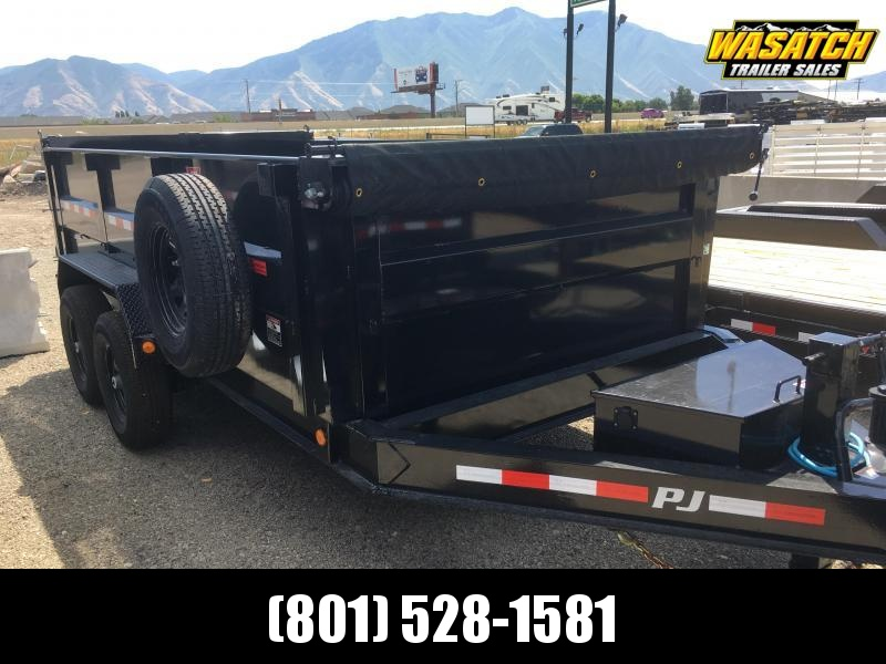 "PJ Trailers 83"" Low Pro High Side (DM) Dump Trailer"