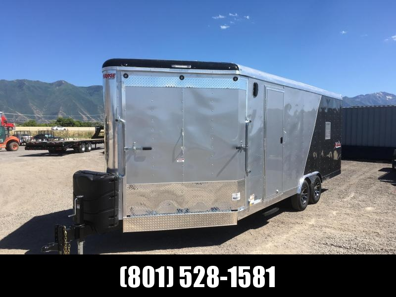 2019 Silver & Charcoal Mirage Trailers 8.5x24 Xtreme Sport Snowmobile Trailer