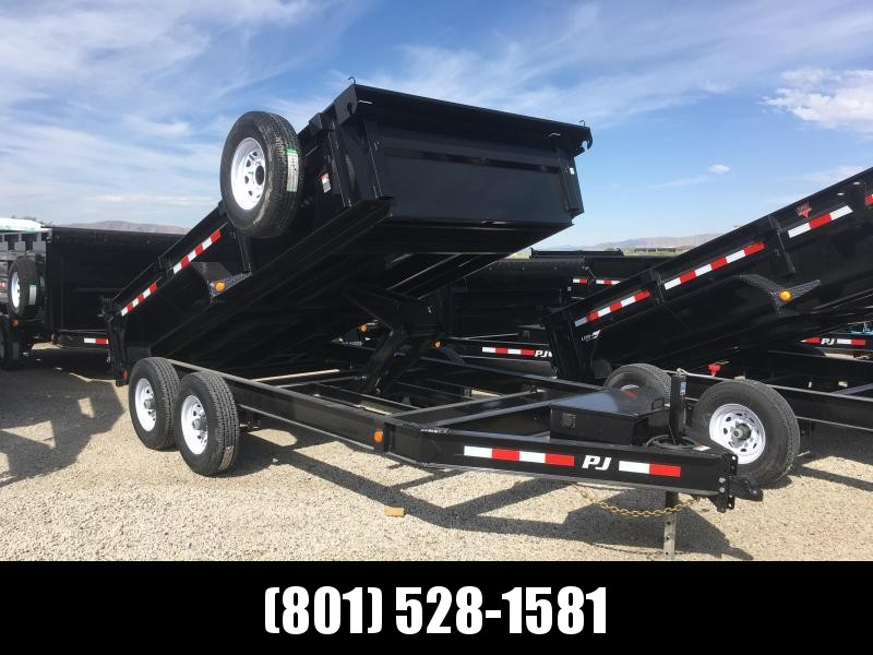 PJ Trailers 14ft. - 83 in. Low Pro Dump (DL) Trailer