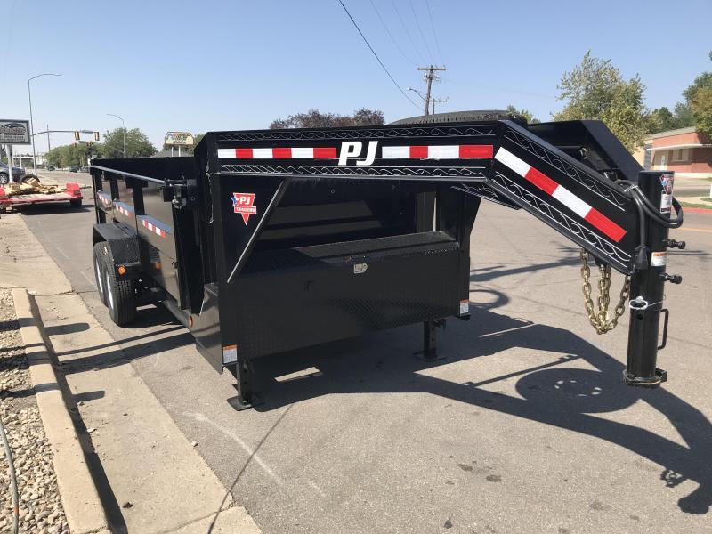 2019 PJ Trailers 16ft Gooseneck DMR Dump Trailer