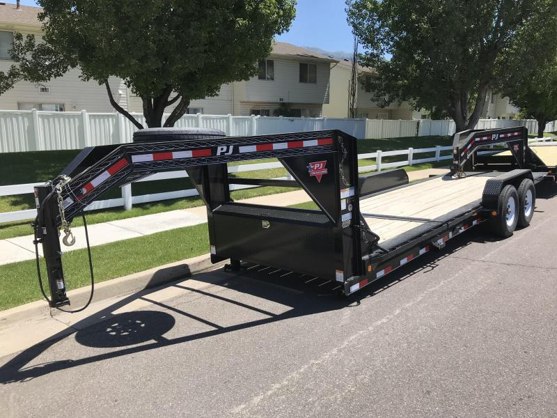 2019 PJ Trailers 22ft TJ Goosneck Tilt Equipment Trailer